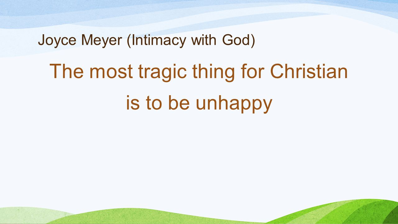 Joyce Meyer (Intimacy with God)