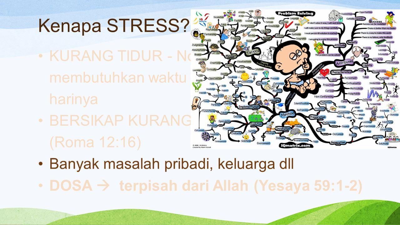 Kenapa STRESS KURANG TIDUR - Normalnya manusia