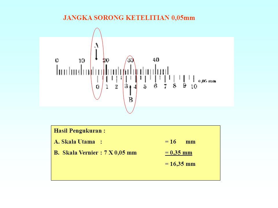 JANGKA SORONG KETELITIAN 0,05mm