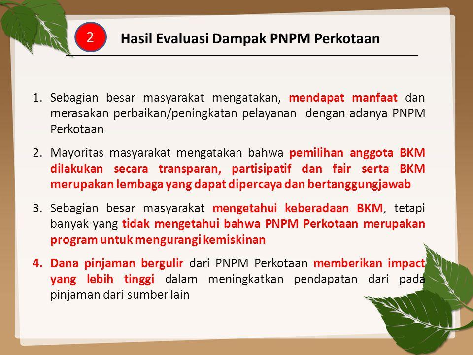 Hasil Evaluasi Dampak PNPM Perkotaan