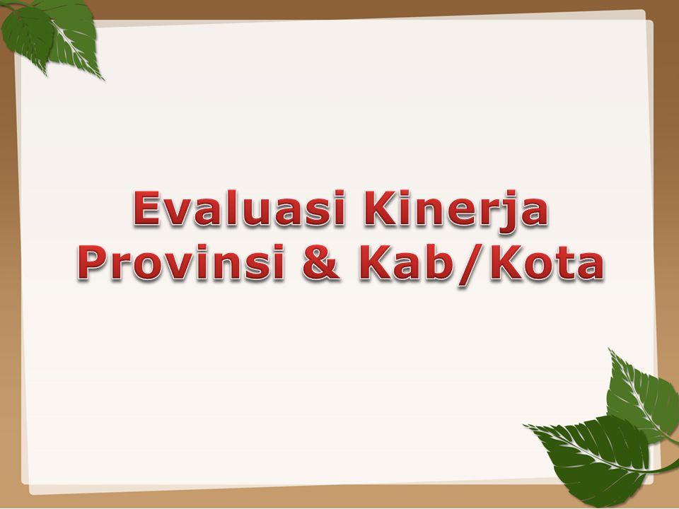 Evaluasi Kinerja Provinsi & Kab/Kota