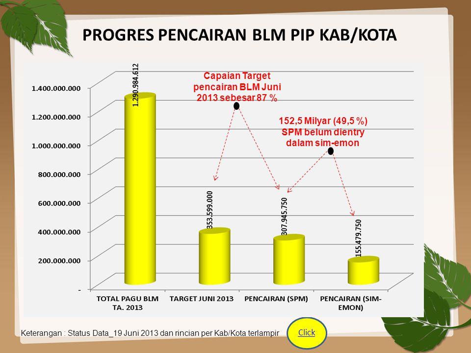 PROGRES PENCAIRAN BLM PIP KAB/KOTA