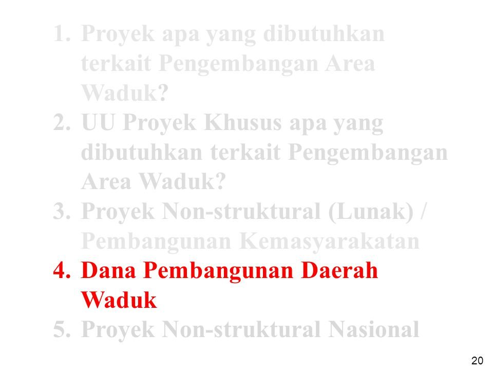 Garis Besar Pembangunan Daerah Waduk