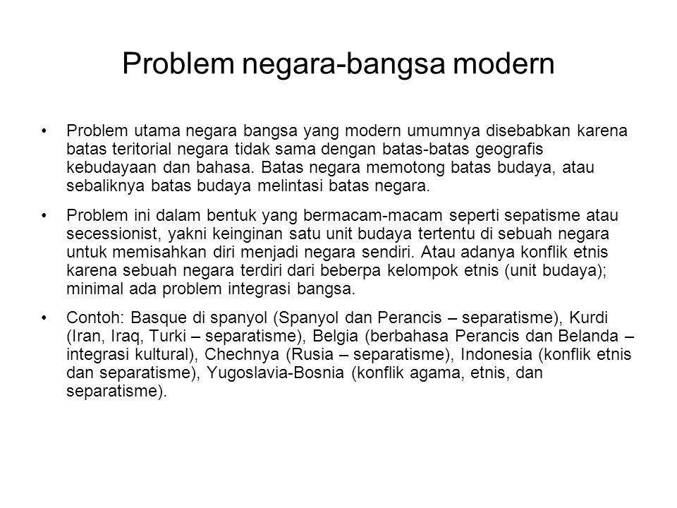 Problem negara-bangsa modern