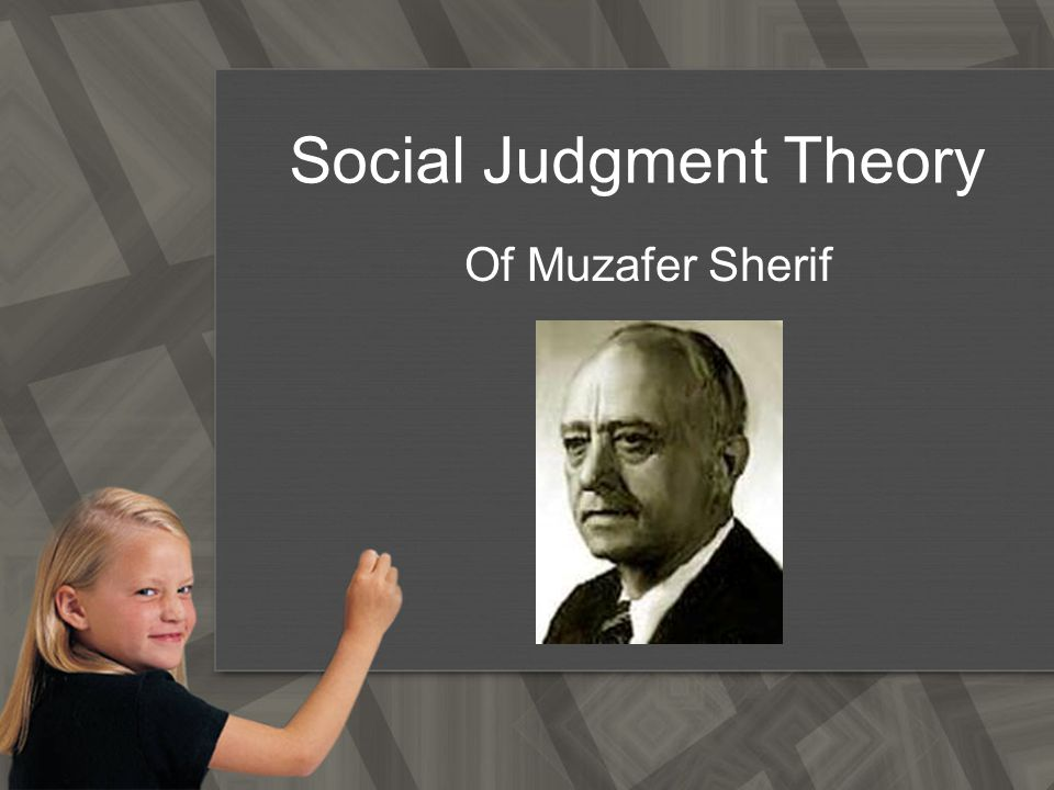 social judgement theory