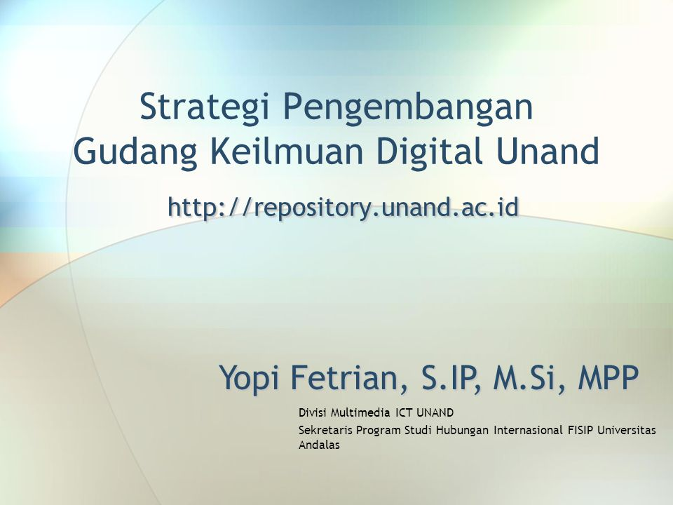 Yopi Fetrian, S.IP, M.Si, MPP