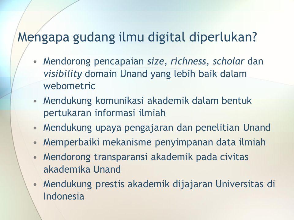 Mengapa gudang ilmu digital diperlukan