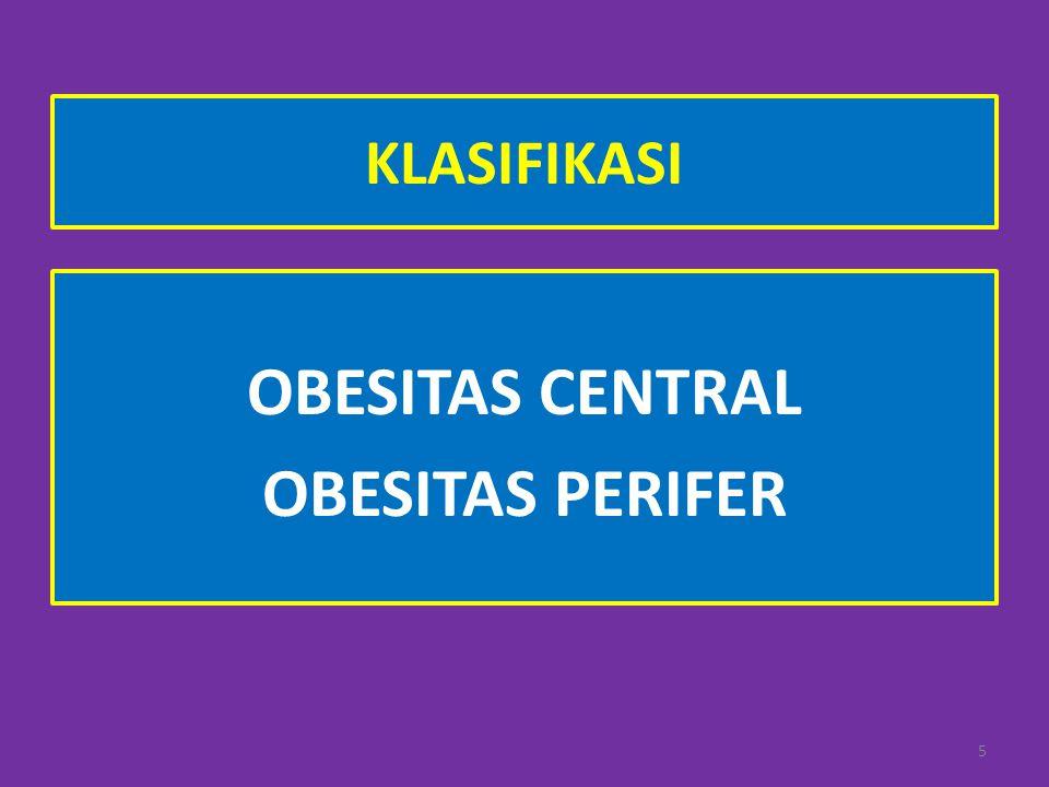 OBESITAS CENTRAL OBESITAS PERIFER