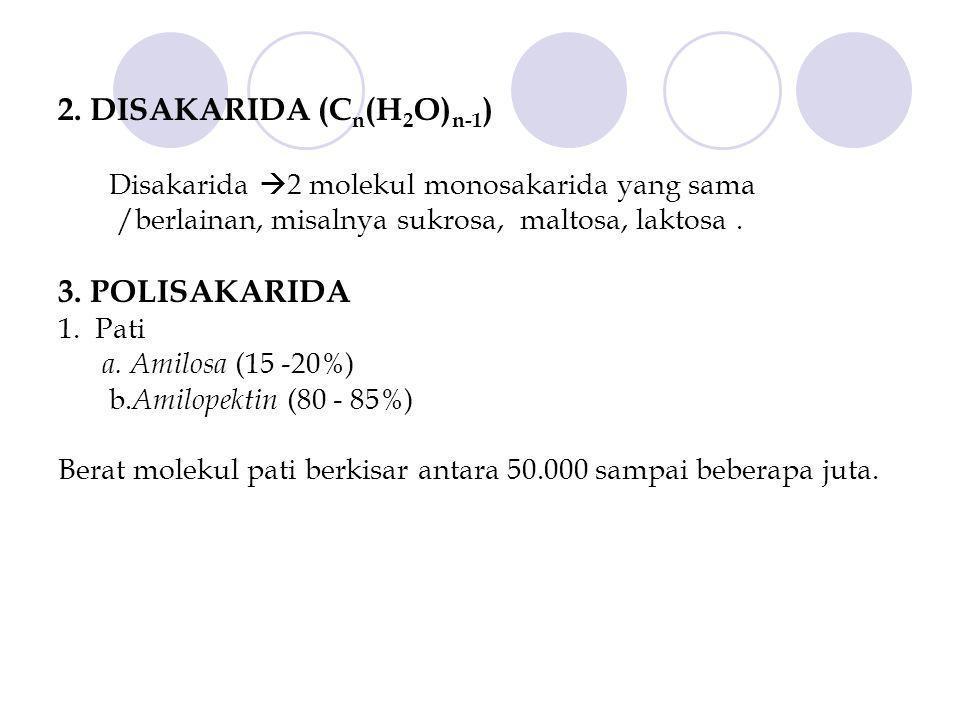 2. DISAKARIDA (Cn(H2O)n-1)