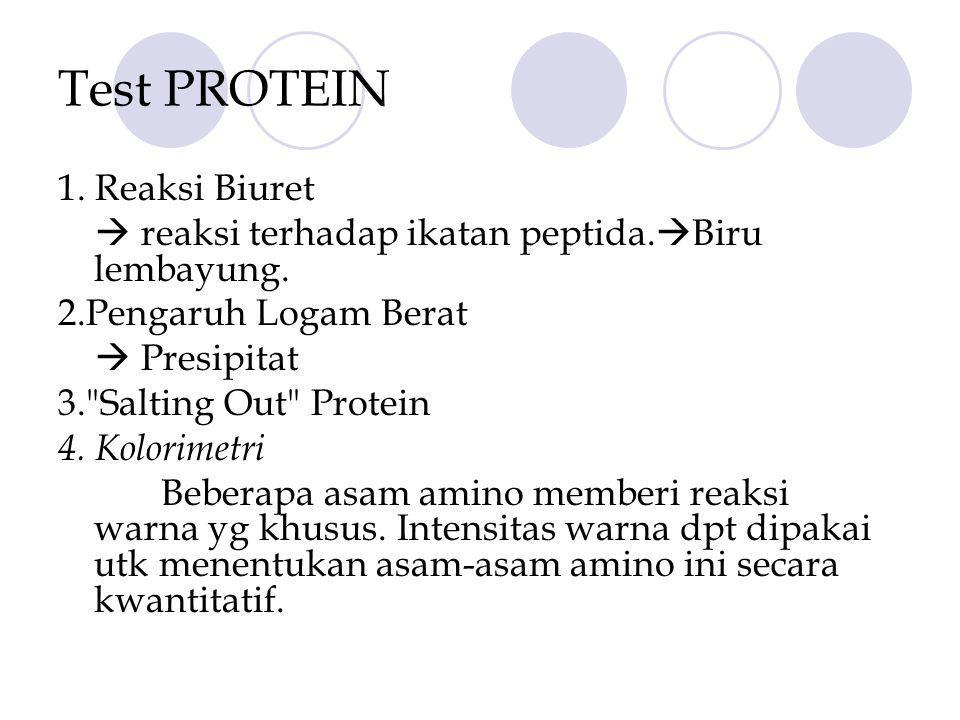 Test PROTEIN 1. Reaksi Biuret