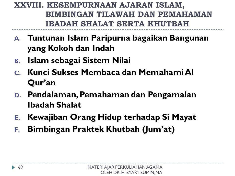 Tuntunan Islam Paripurna bagaikan Bangunan yang Kokoh dan Indah