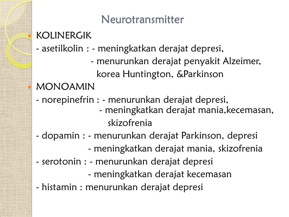 Neurotransmitter KOLINERGIK