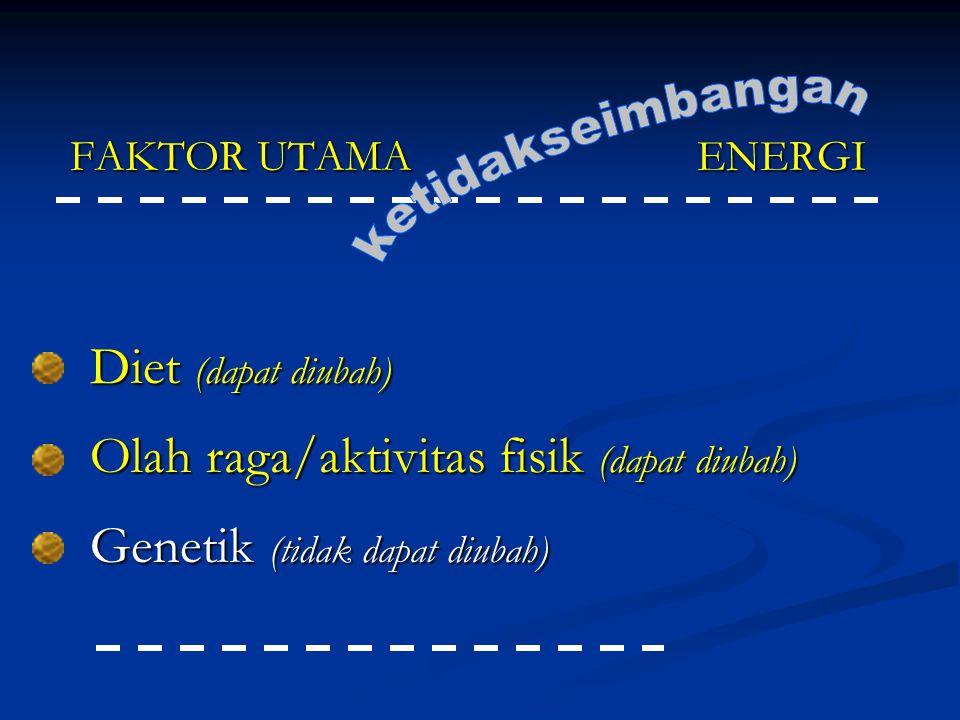 Olah raga/aktivitas fisik (dapat diubah) Genetik (tidak dapat diubah)