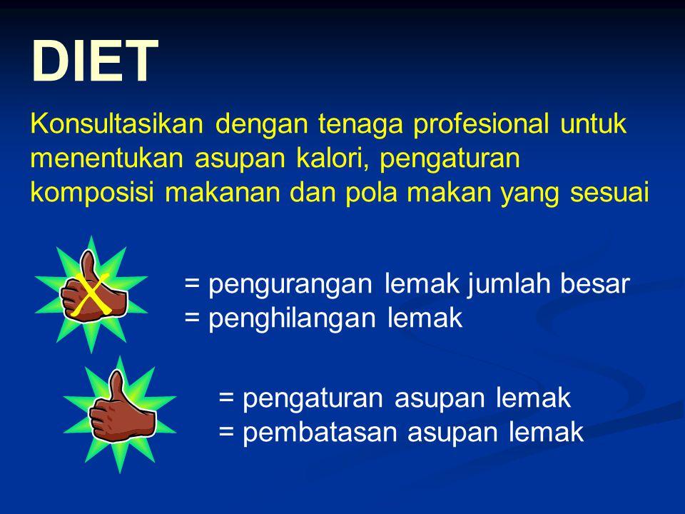x DIET Konsultasikan dengan tenaga profesional untuk
