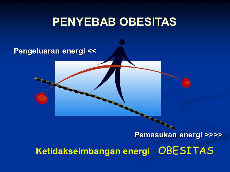 PENYEBAB OBESITAS Ketidakseimbangan energi = OBESITAS