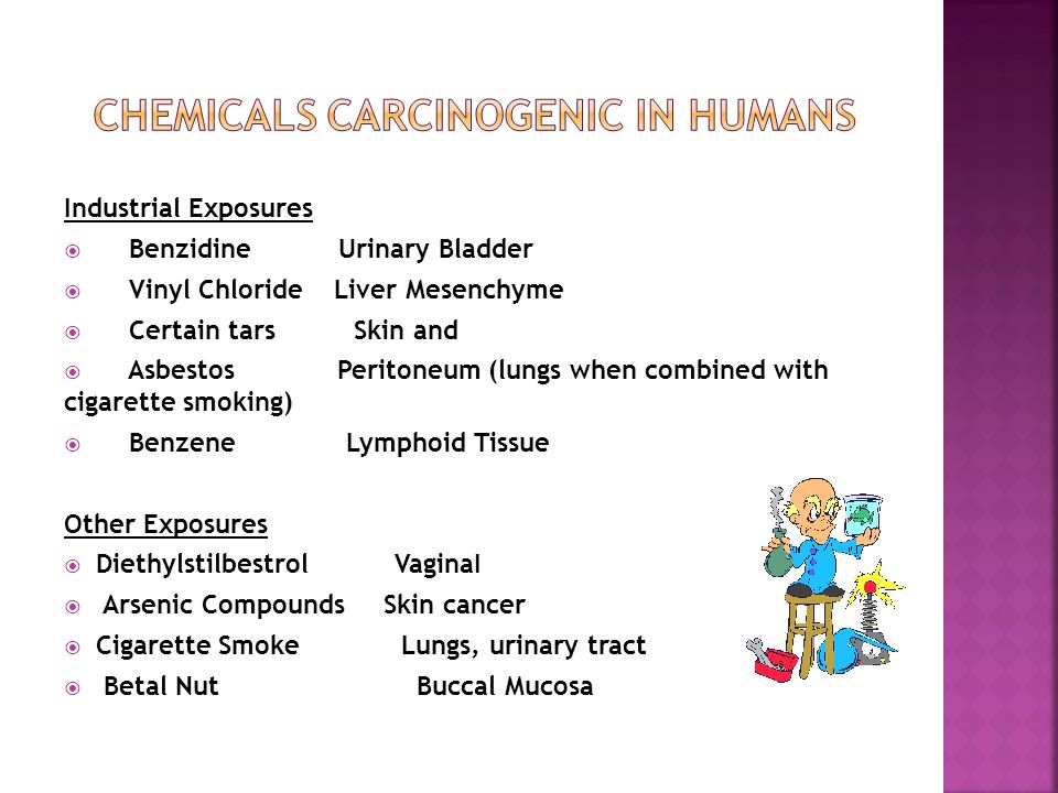 Chemicals Carcinogenic in Humans
