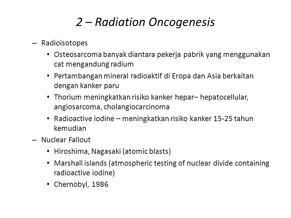 2 – Radiation Oncogenesis