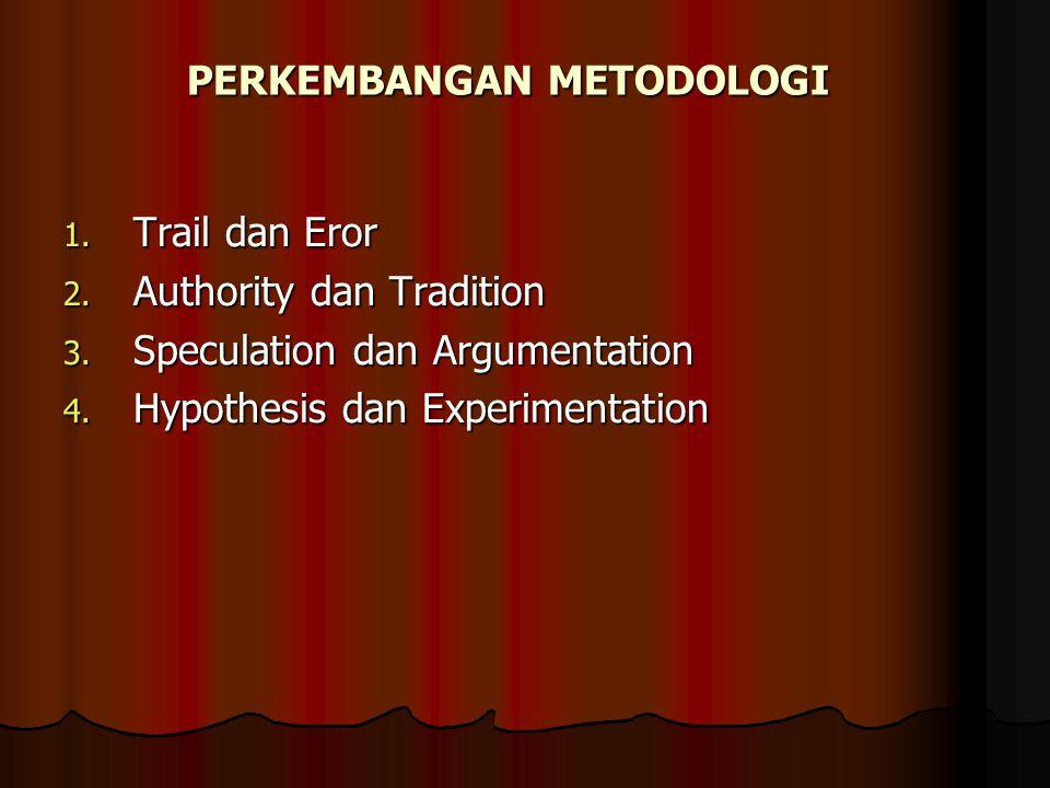 PERKEMBANGAN METODOLOGI