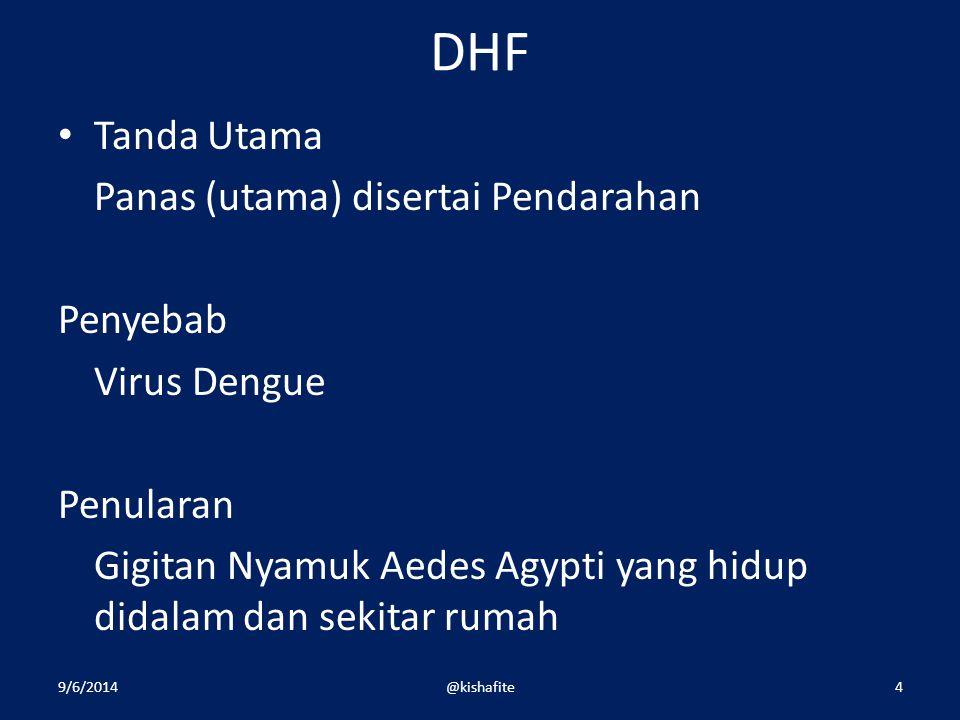 DHF Tanda Utama Panas (utama) disertai Pendarahan Penyebab
