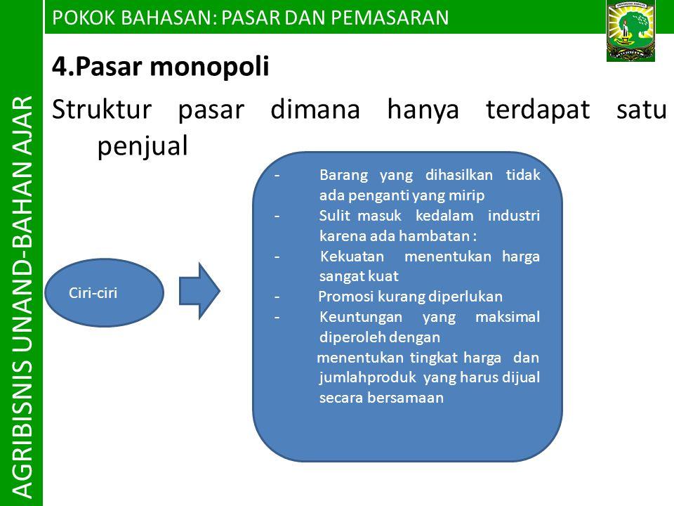 AGRIBISNIS UNAND-BAHAN AJAR 4.Pasar monopoli