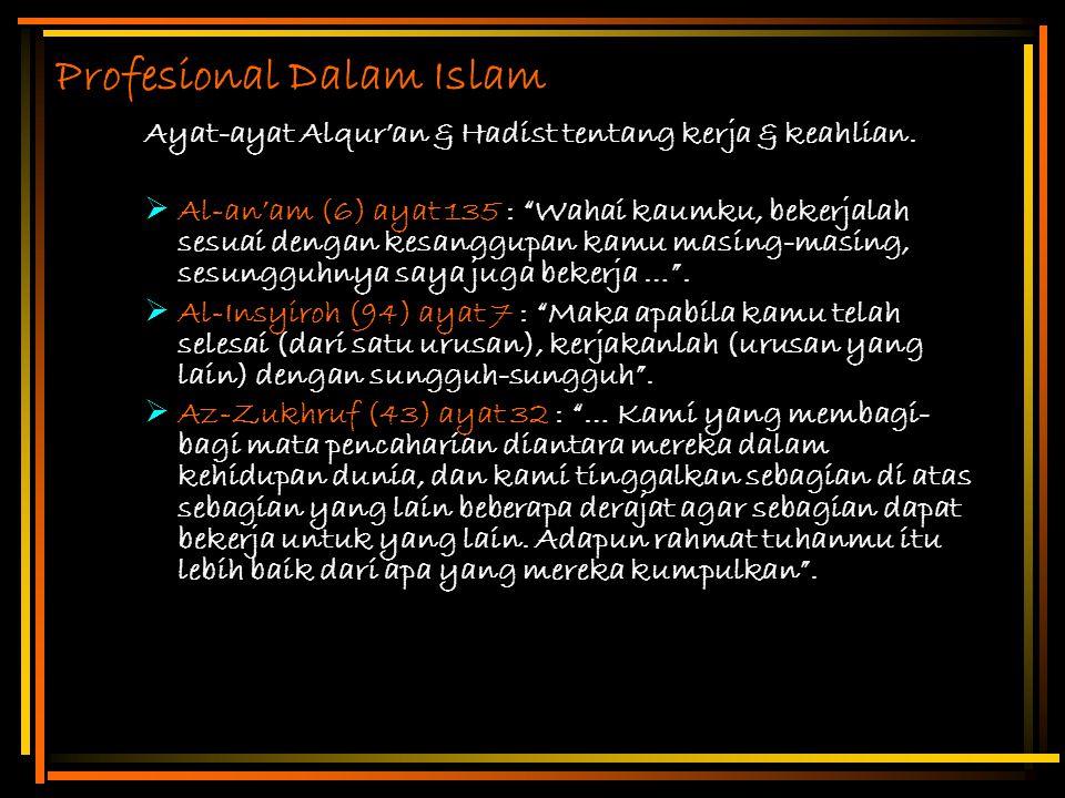 Profesional Dalam Islam