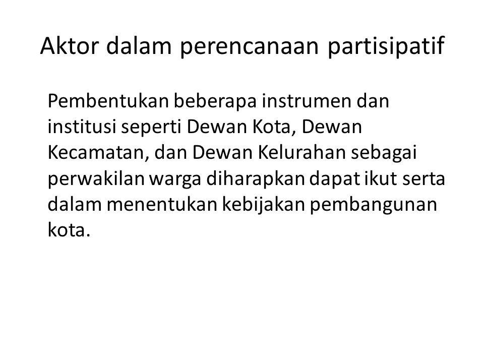 Aktor dalam perencanaan partisipatif