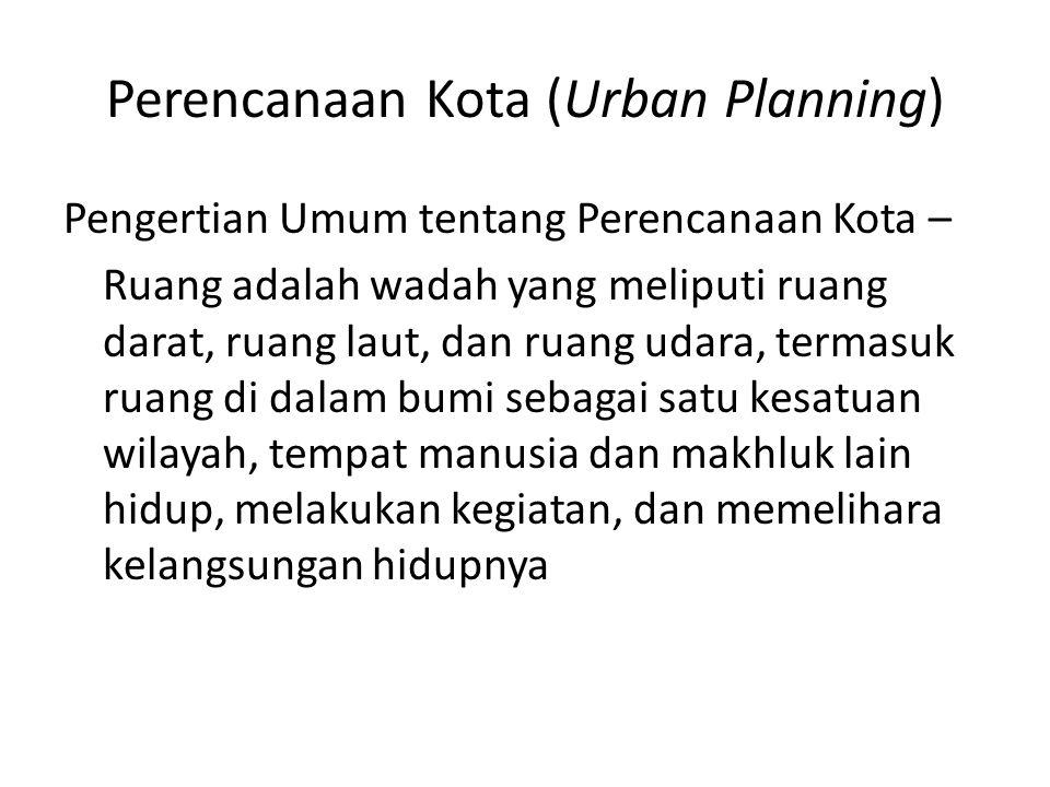 Perencanaan Kota (Urban Planning)