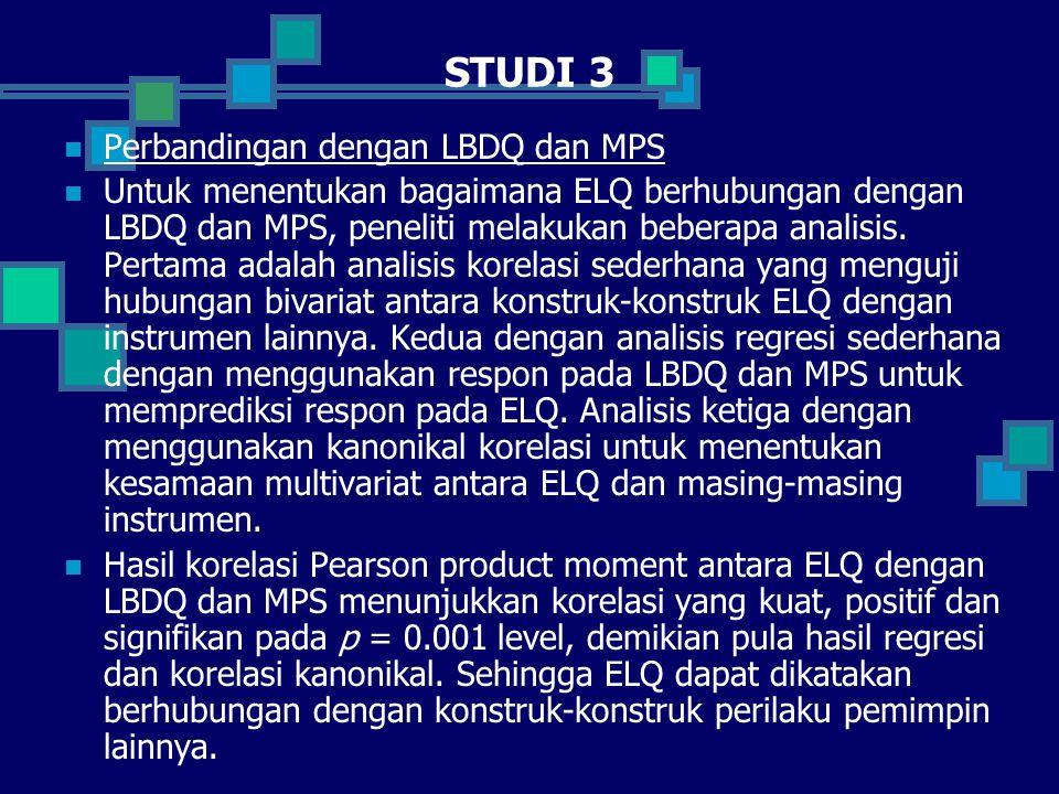 STUDI 3 Perbandingan dengan LBDQ dan MPS