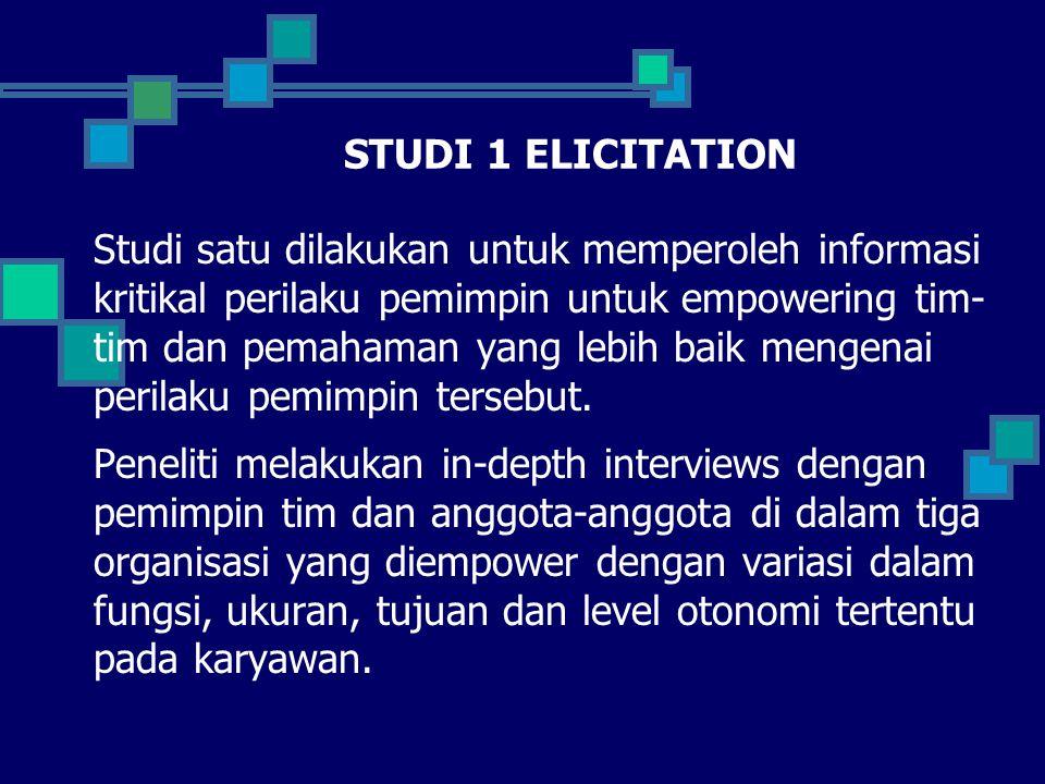 STUDI 1 ELICITATION