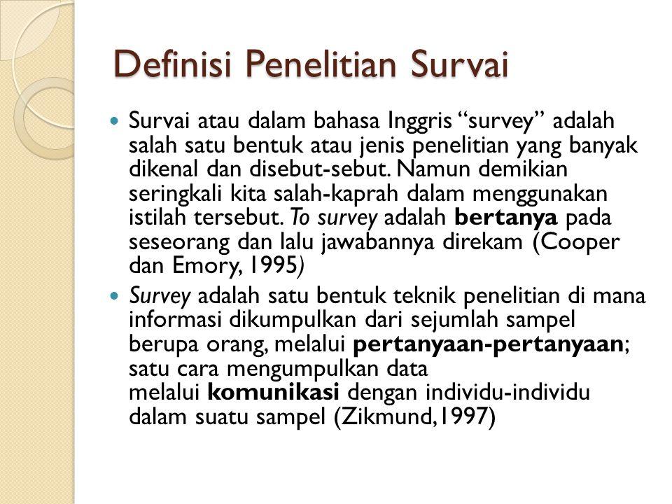 Definisi Penelitian Survai