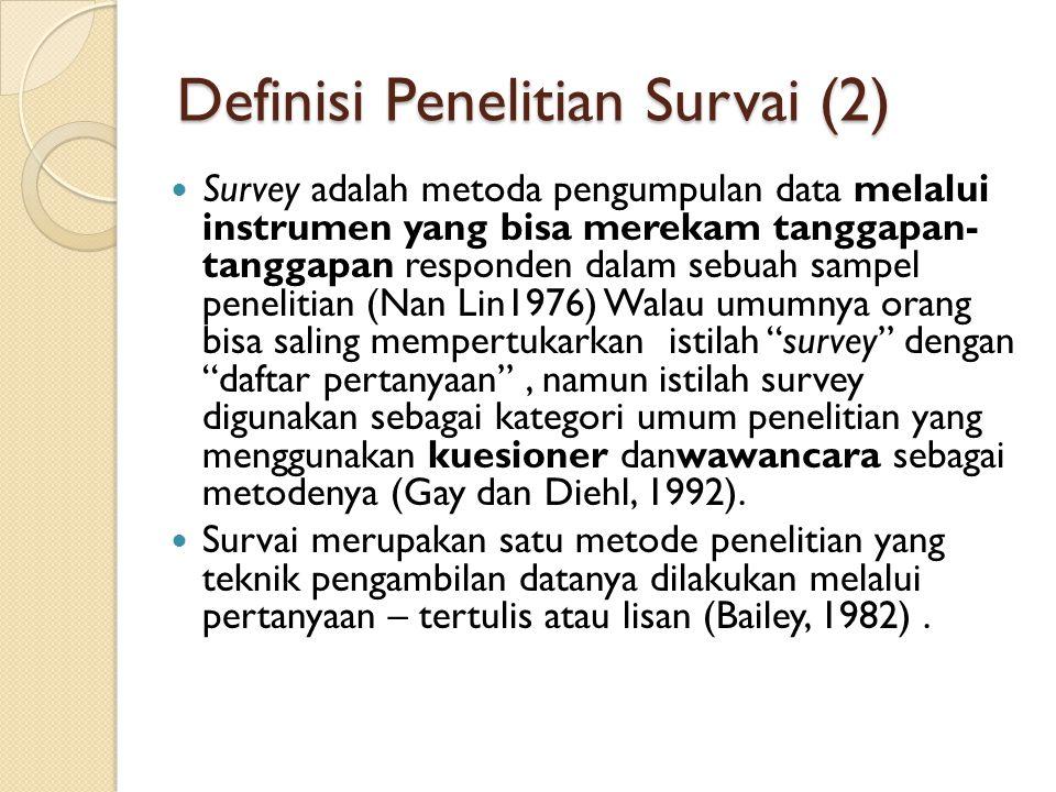 Definisi Penelitian Survai (2)