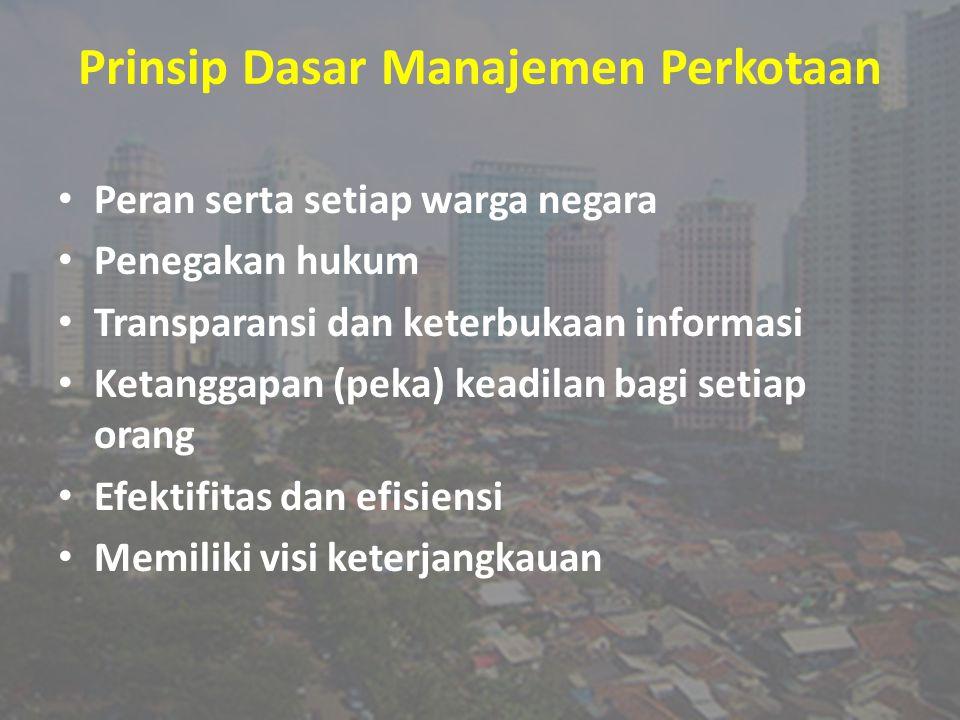 Prinsip Dasar Manajemen Perkotaan
