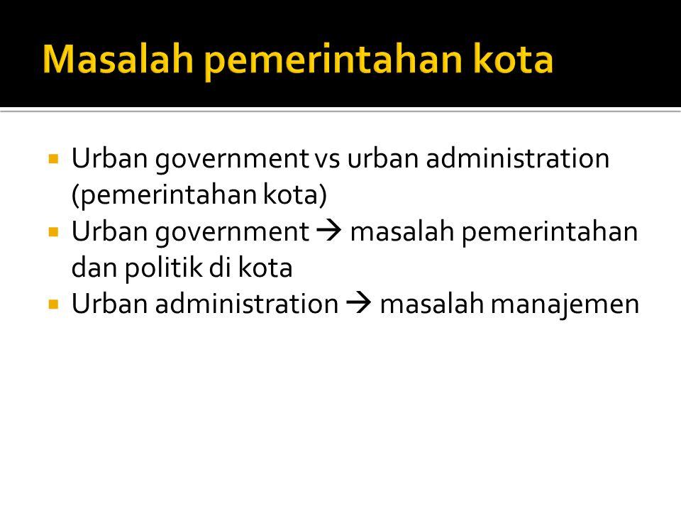 Masalah pemerintahan kota