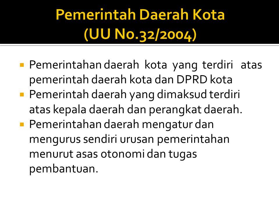 Pemerintah Daerah Kota (UU No.32/2004)