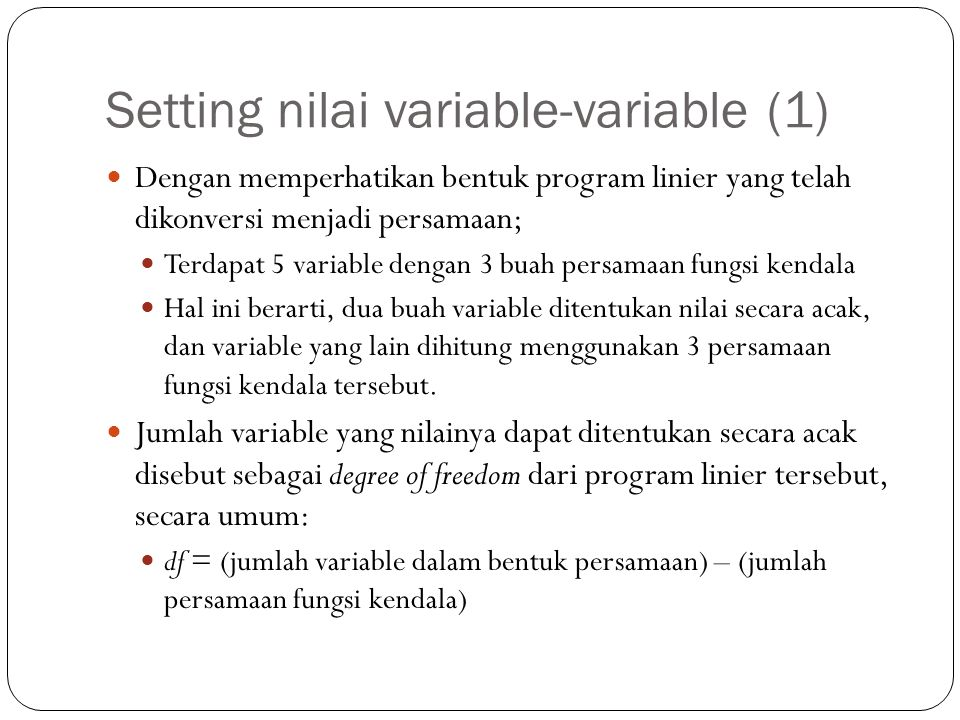 Setting nilai variable-variable (1)