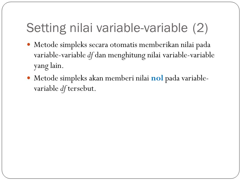 Setting nilai variable-variable (2)