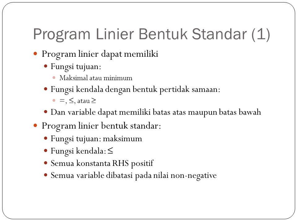 Program Linier Bentuk Standar (1)