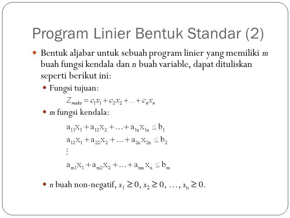 Program Linier Bentuk Standar (2)