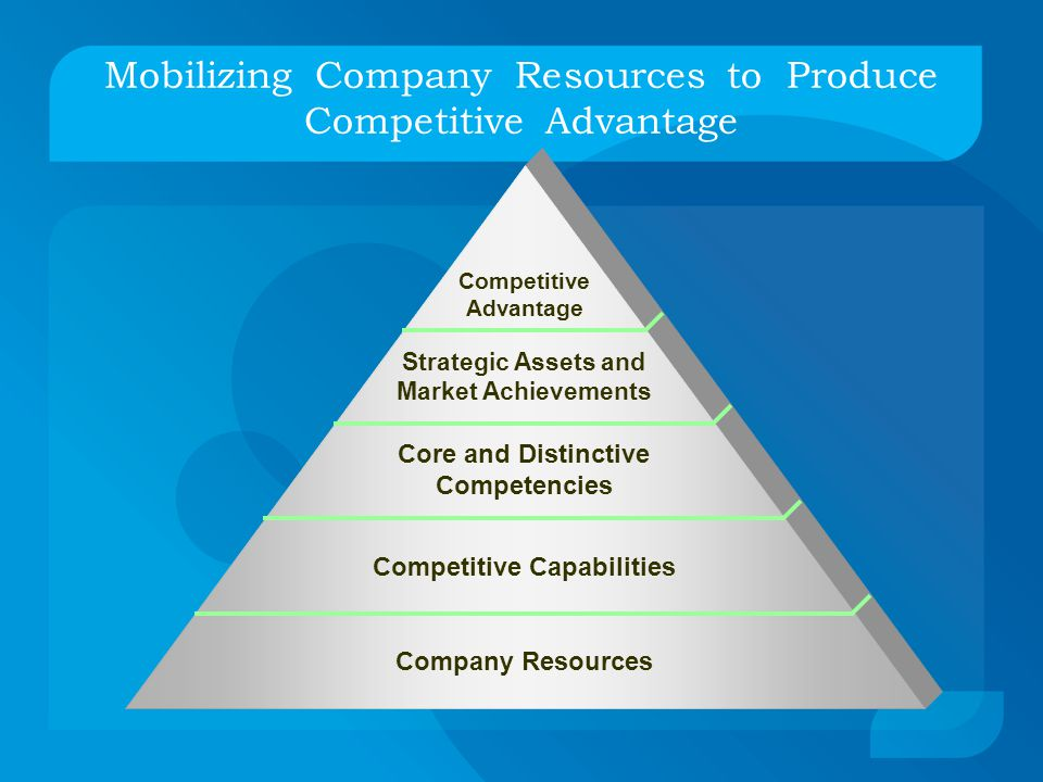 Mobilizing Company Resources to Produce Competitive Advantage