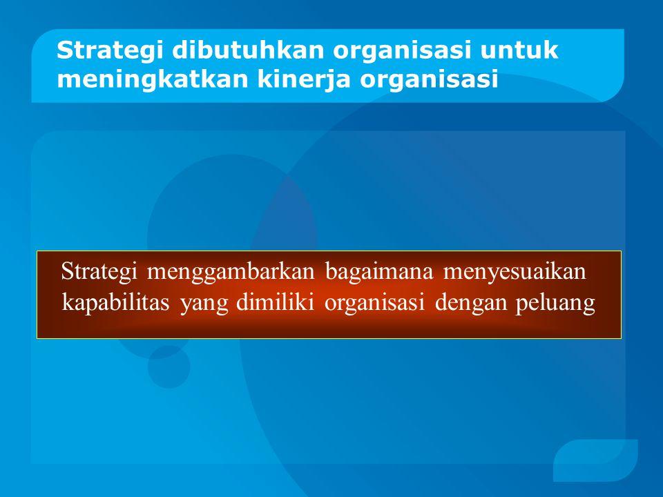 Strategi dibutuhkan organisasi untuk meningkatkan kinerja organisasi