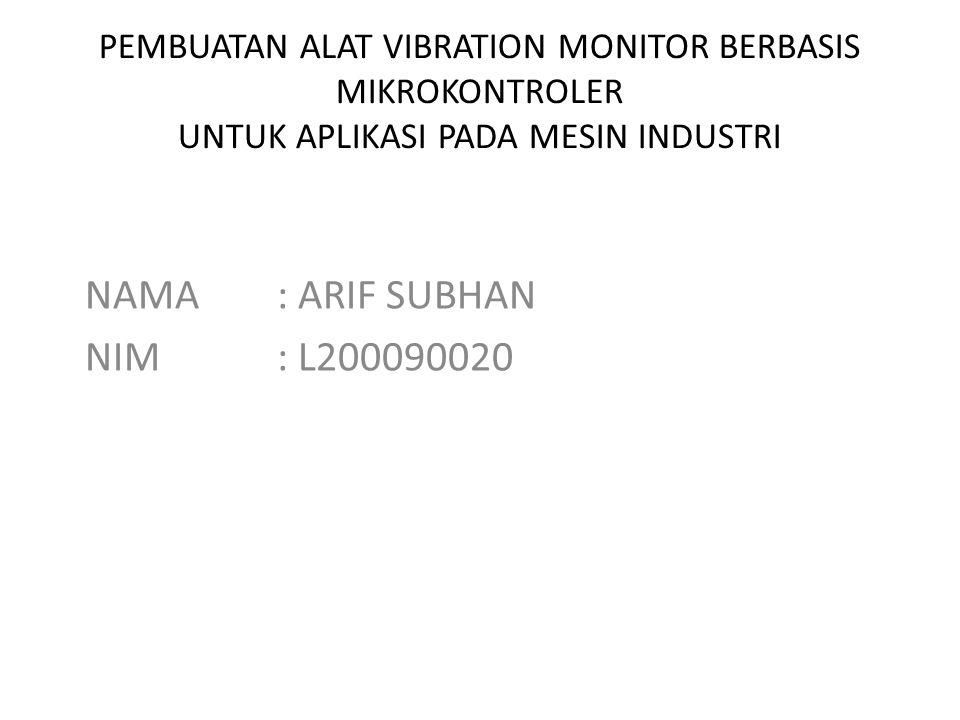 NAMA : ARIF SUBHAN NIM : L200090020