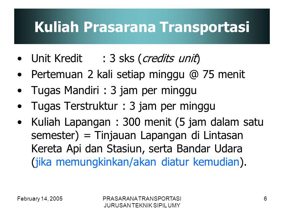 Kuliah Prasarana Transportasi