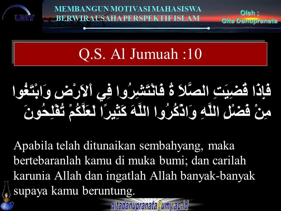 Q.S. Al Jumuah :10