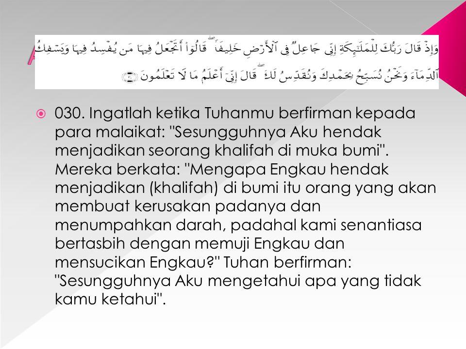 Al Baqarah (2) : 30
