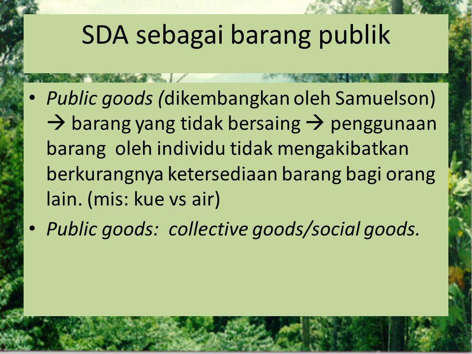 SDA sebagai barang publik