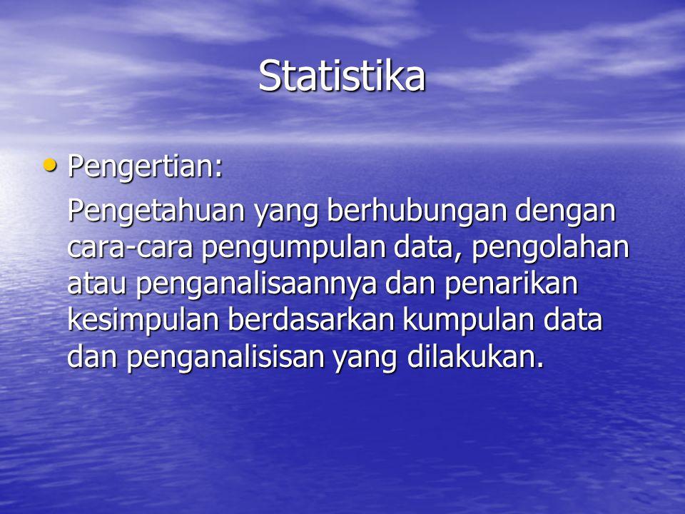 Statistika Pengertian: