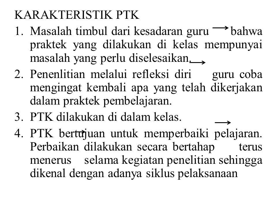 KARAKTERISTIK PTK 1.
