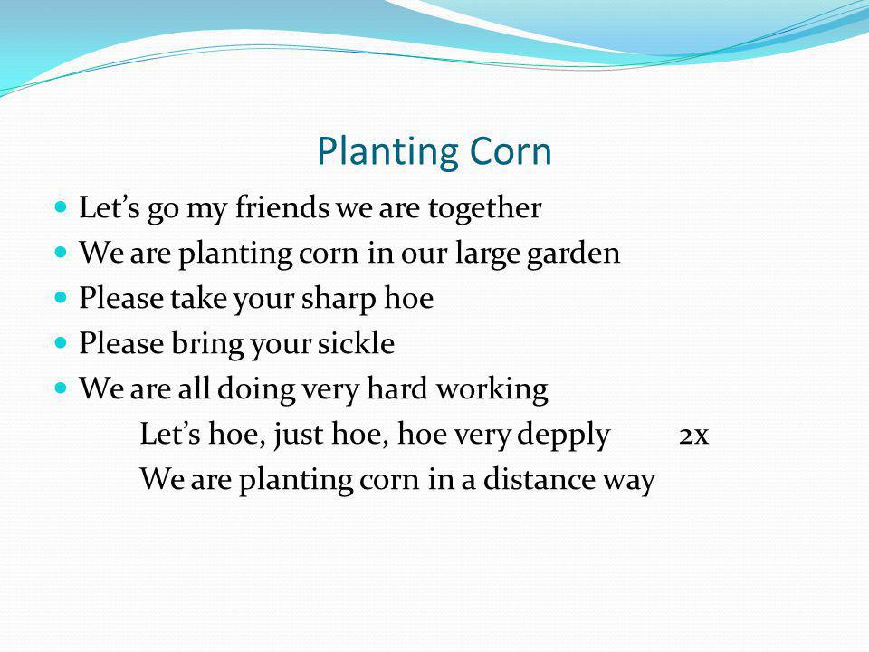 Planting Corn Let's go my friends we are together
