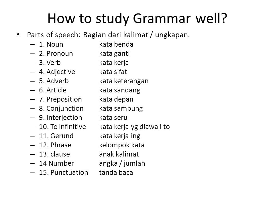 How to study Grammar well