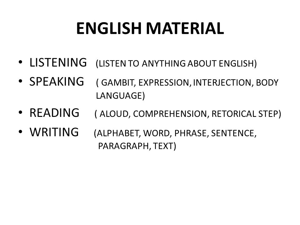 ENGLISH MATERIAL LISTENING (LISTEN TO ANYTHING ABOUT ENGLISH)